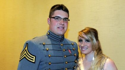 Army Cadet Brad Strimel and Jessica Jurcevich.