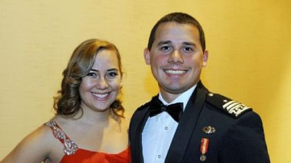 Sara Rich and Air Force Cadet 1st Cadet Michael Griffin.