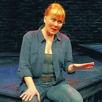 Tami Dixon at City Theatre in &quot;South Side Stories,&quot; a solo show that she also researched and wrote.