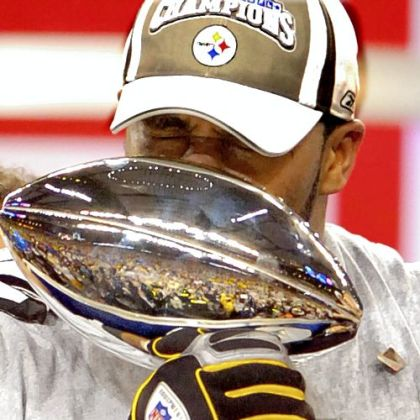 Feb. 2006: Steelers running back Jerome Bettis kisses the Vince Lombardi trophy after finishing his quest to win the Super Bowl in his home town of Detroit. He announced his retirement from the NFL a short time later.