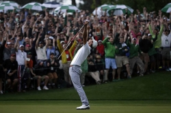 Adam Scott wins first Masters for Australia with playoff victory