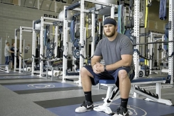 Late-blooming Penn State lineman Mike Farrell awaits call in NFL draft