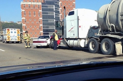 Traffic moving after Downtown accident causes backups