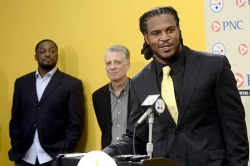 Steelers introduce top pick Jarvis Jones
