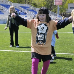 Soccer clinic gives special needs kids a chance to meet the pros