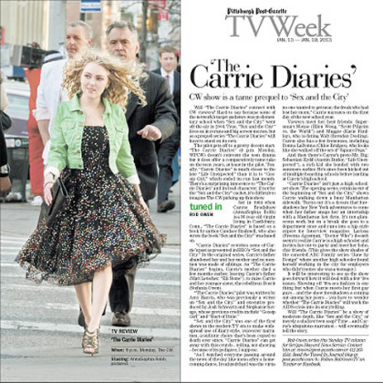 AnnaSophia Robb as Carrie Bradshaw in &quot;The Carrie Diaries.&quot;