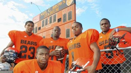 Titus Howard (front), Tyler Boyd (far left) and Terrish Webb (far right) have all made verbal commitments to Pitt for the 2013 class. Webb had made a verbal committment to Kent State early this past season.