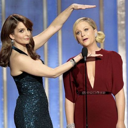 Tina Fey, left, and Amy Poehler host the 70th Annual Golden Globe Awards.