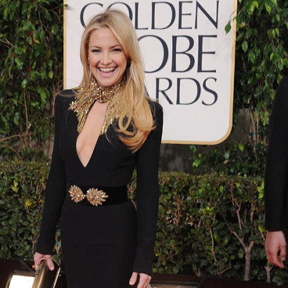 Kate Hudson was among those opting for sleeves at the Golden Globes.