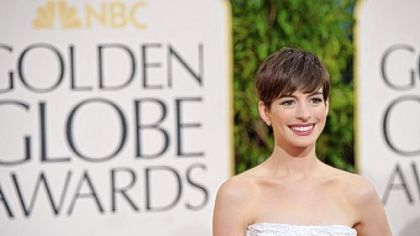 "Anne Hathaway won a Golden Globe for best supporting actress for ""Les Miserables,"" which also won best musical or comedy."