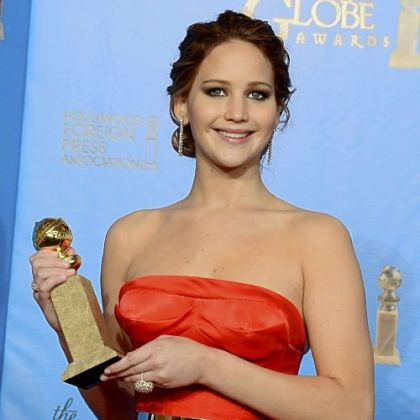 "Jennifer Lawrence took home the Golden Globe for best performance by an actress in a motion picture comedy or musical for ""Silver Linings Playbook."""