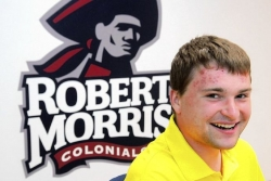 Robert Morris golfer's battle starts before he steps on tee