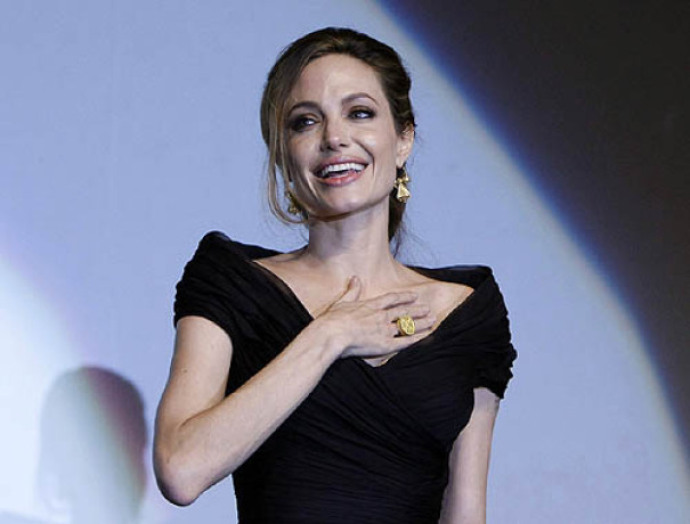 angelina jolie file smiling