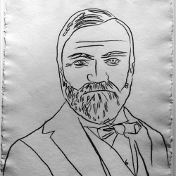Revealing Andy Warhol's drawing of Andrew Carnegie