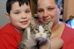 Missing cat returned to Pittsburgh 8-year-old