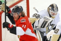 Penguins lose to Senators, 2-1, in double overtime