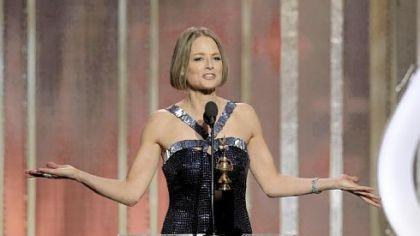 Jodie Foster, recipient of the Cecil B. Demille Award, during the 70th Annual Golden Globe Awards.