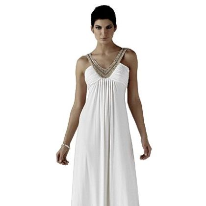 White House Black Line Market's Beaded ecru jersey gown, $280.