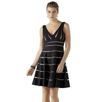 White House Black Line Market's shadow stripe party dress $280.
