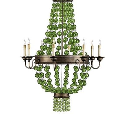 Currey & Co.'s Goddess Chandelier with 8 Lights 