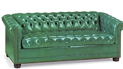 Hancock &amp; Moore&#039;s Chesterfield sleep sofa in emerald leather.