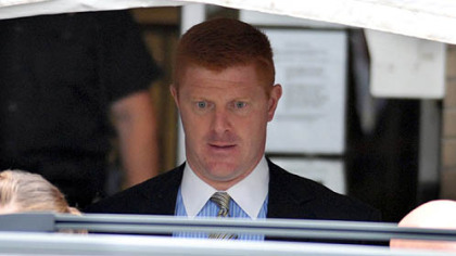 Mike McQueary exits the Centre County Courthouse in June after testifying in the Jerry Sandusky abuse trial.