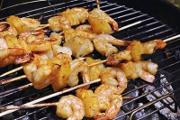 What's for Dinner: Red Curry Shrimp and Pineapple Skewers