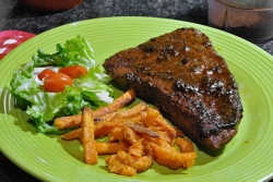 What's for Dinner: Coffee-rubbed rib eye steaks with stout glaze