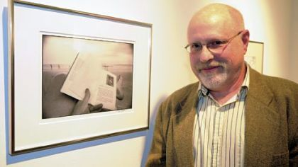 Jim Judkis with his photograph.