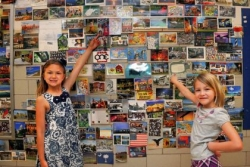 Postcards bring world to Seneca Valley school