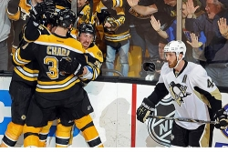 Penguins fall to Bruins, 2-1, in double OT
