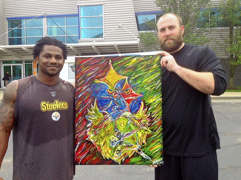 The Steelers Baron Batch's art featured at festival in Texas