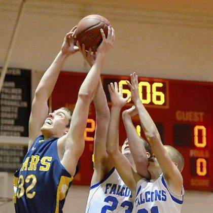 Mars center Josh Goetz pulls down a rebound against Connellsville at North Catholic&#039;s Don Graham Classic.