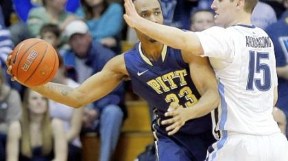 Pitt's Trey Zeigler tries to keep the ball away from Villanova's Ryan Arcidiacono during the second half on Wednesday in Villanova.