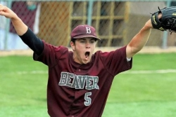 Beavers' Logan pitches 2-hitter; Quakers stymied again