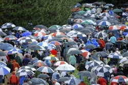 Soggy Merion Golf Club hangs tough in first round of U.S. Open