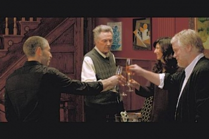 Toasting each other in &quot;A Late Quartet&quot; are, from left, Mark Ivanir, Christopher Walken, Catherine Keener and Philip Seymour Hoffman.Photo courtesy of