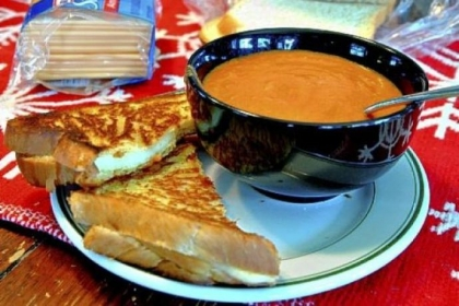 Homemade Tomato Soup and Grilled Cheese.