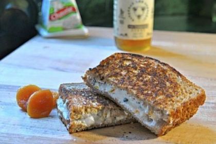 Spicy, Crunchy, Sweet Goat Cheese Melt.