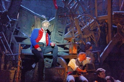 "Peter Lockyer, left, as Jean Valjean in the 25th anniversary stage production of ""Les Miserables"" at the Benedum Center through Jan. 27."