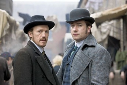 "Jerome Flynn, left, and Matthew Macfadyen are the law in London's East End just after Jack the Ripper's reign of terror in BBC America's ""Ripper Street."""