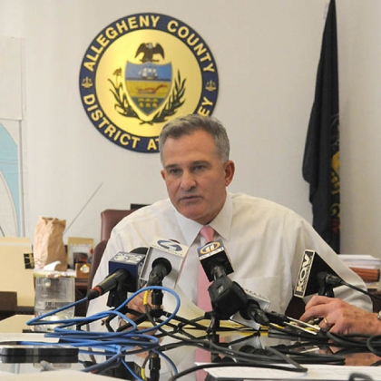 Allegheny County District Attorney Stephen A. Zappala Jr. talks to reporters about his review of the death of Ka'Sandra Wade.