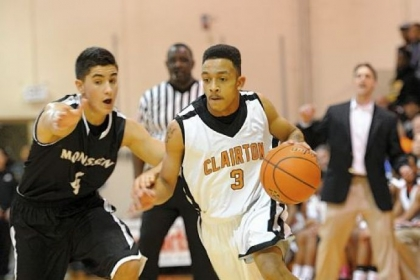 Clairton's Byron Clifford drives against Monessen's Luke Doptis Friday at Clairton.