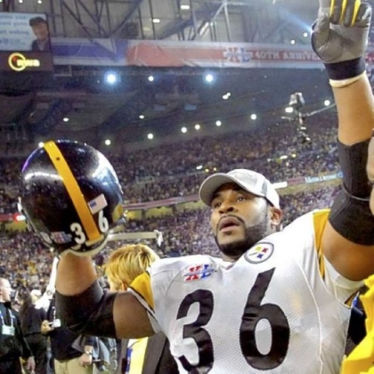 Jerome Bettis finds his family in the crowd that fairytale evening in Detroit after Super Bowl XL.
