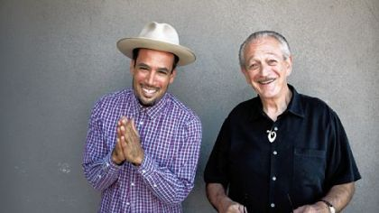 "Pedal steel guitarist Ben Harper (left) teams up with blues harmonica great Charlie Musselwhite for ""Get Up!"", to be released on Jan. 29."
