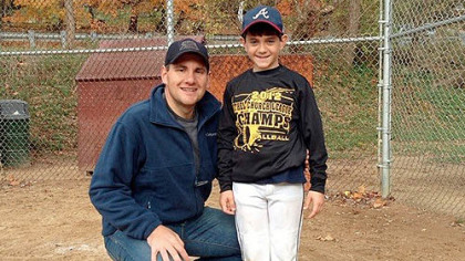 John Pikras Jr. shown with his son, Alex.