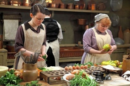 Shown from left to right: Sophie McShera as Daisy and Lesley Nicol as Mrs. Patmore in 'Downton Abbey.'