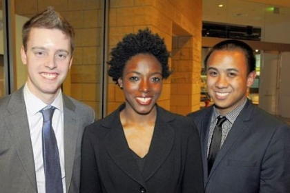 Stephen Ferguson, Takiva Pierce and Benjamin Biscocho
