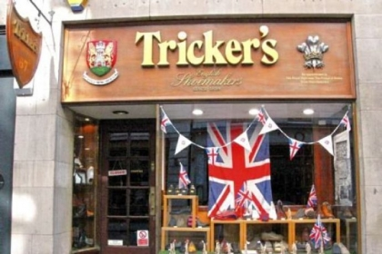 Tricker's in London proudly displays its Royal Warrent.