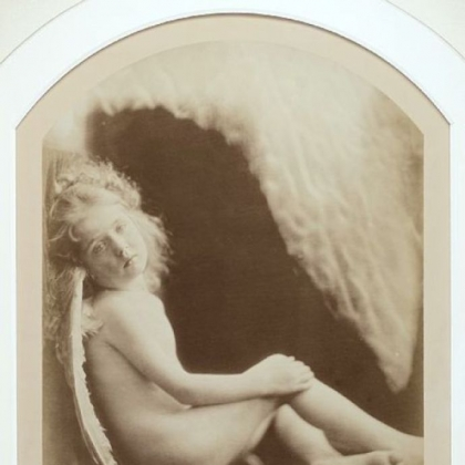 "Julia Margaret Cameron used her daughter Daisy Taylor as a model for the 1873 photo ""Cupid Escaped From His Mother,"" which is among 80 photographs on display."